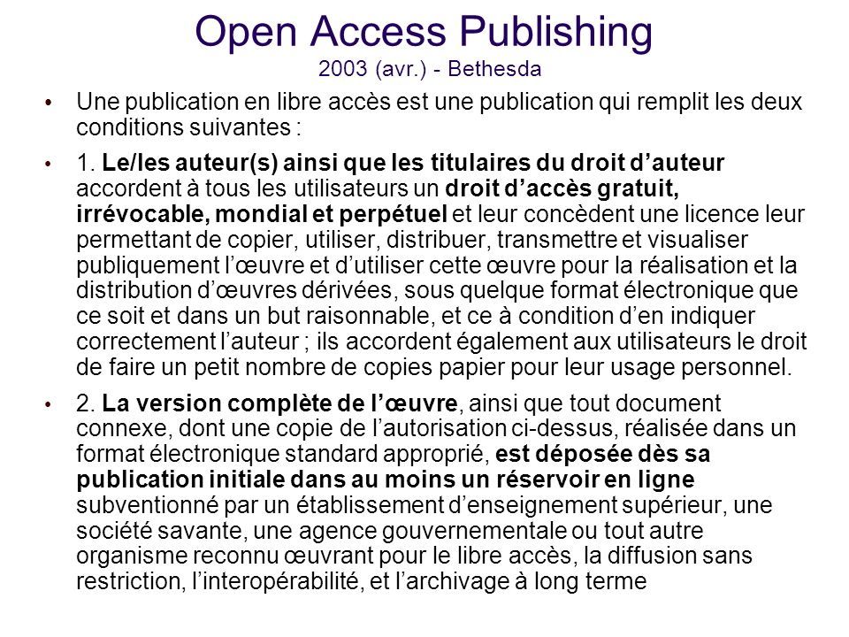 Open access open archives oai pmh 10 ans apr s o en est - Deux robinets coulent dans un reservoir ...