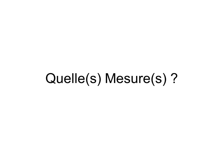 Quelle(s) Mesure(s)