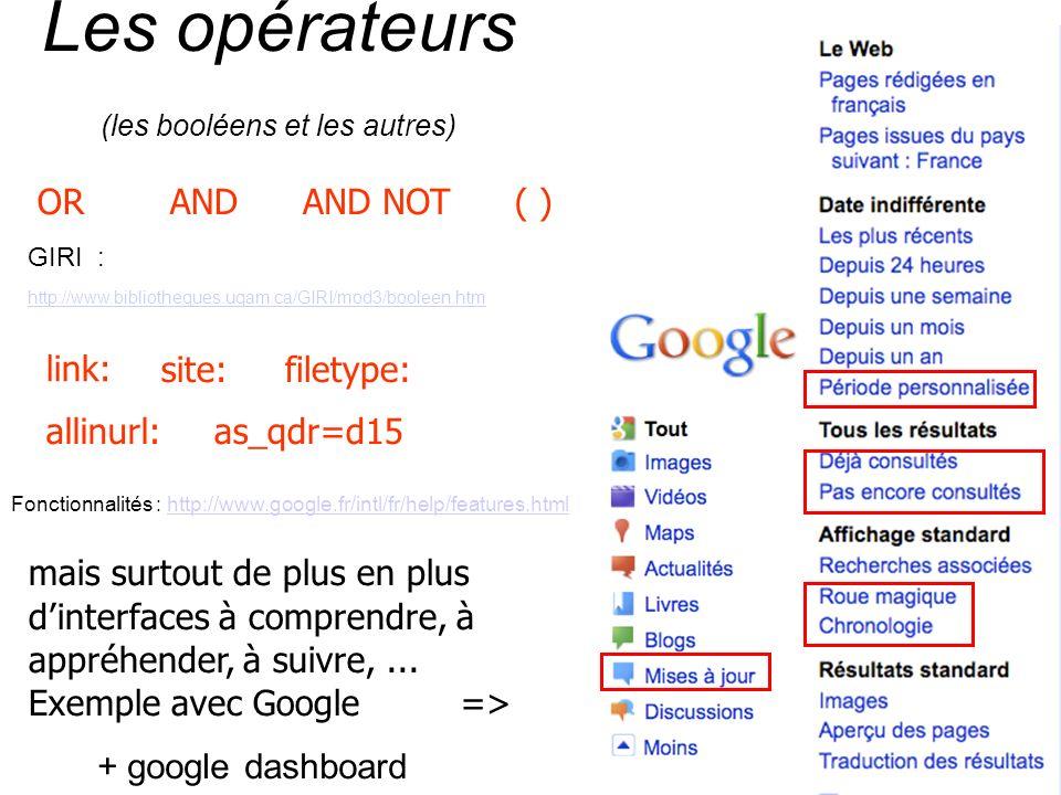 Les opérateurs (les booléens et les autres)