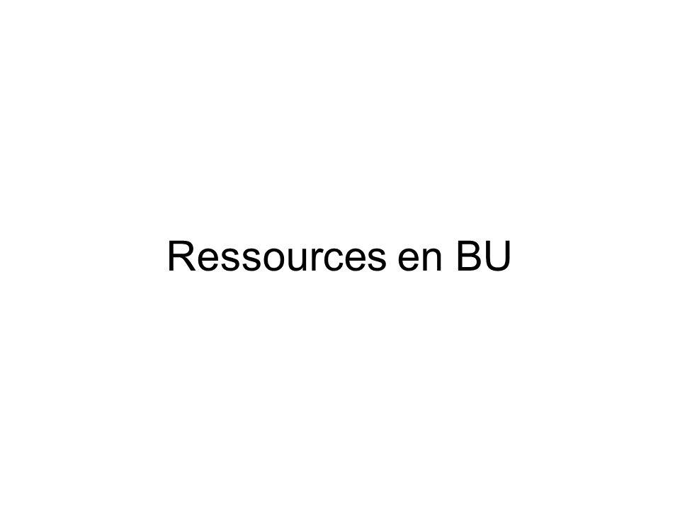 Ressources en BU