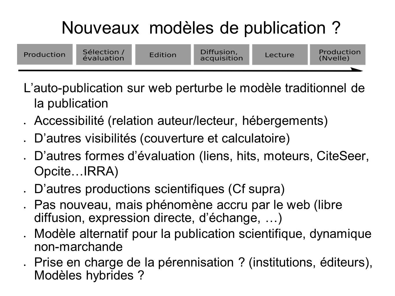 Nouveaux modèles de publication