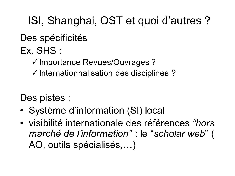ISI, Shanghai, OST et quoi d'autres