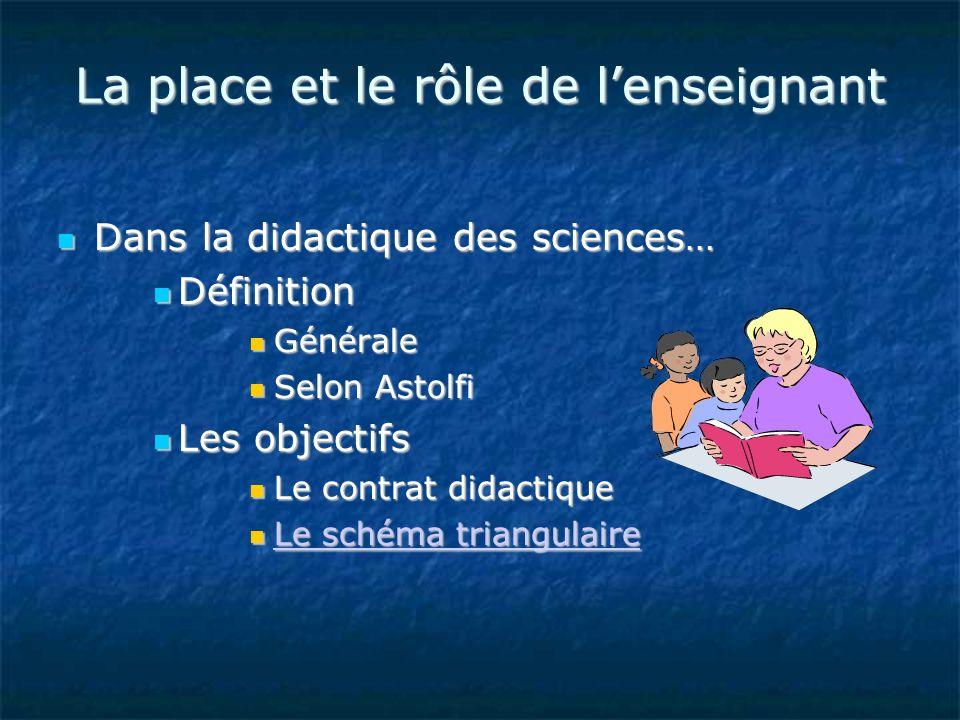 La place et le rôle de l'enseignant