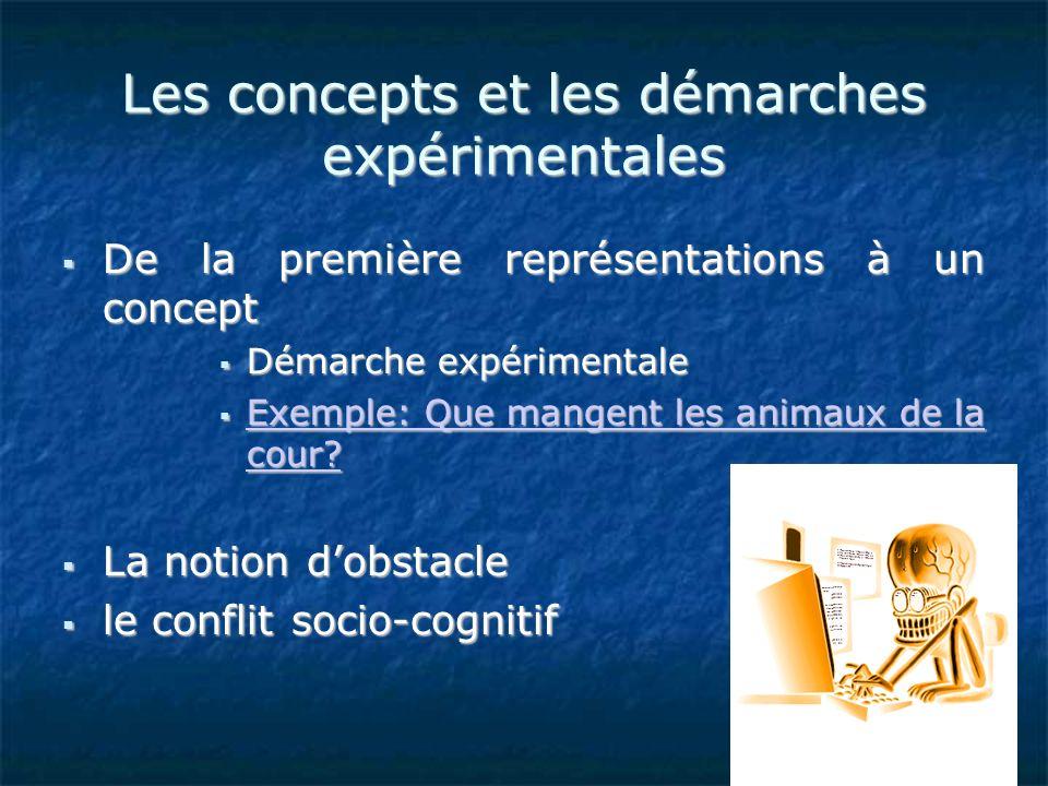 Les concepts et les démarches expérimentales