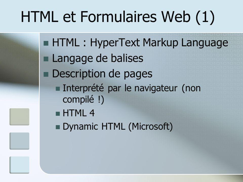HTML et Formulaires Web (1)
