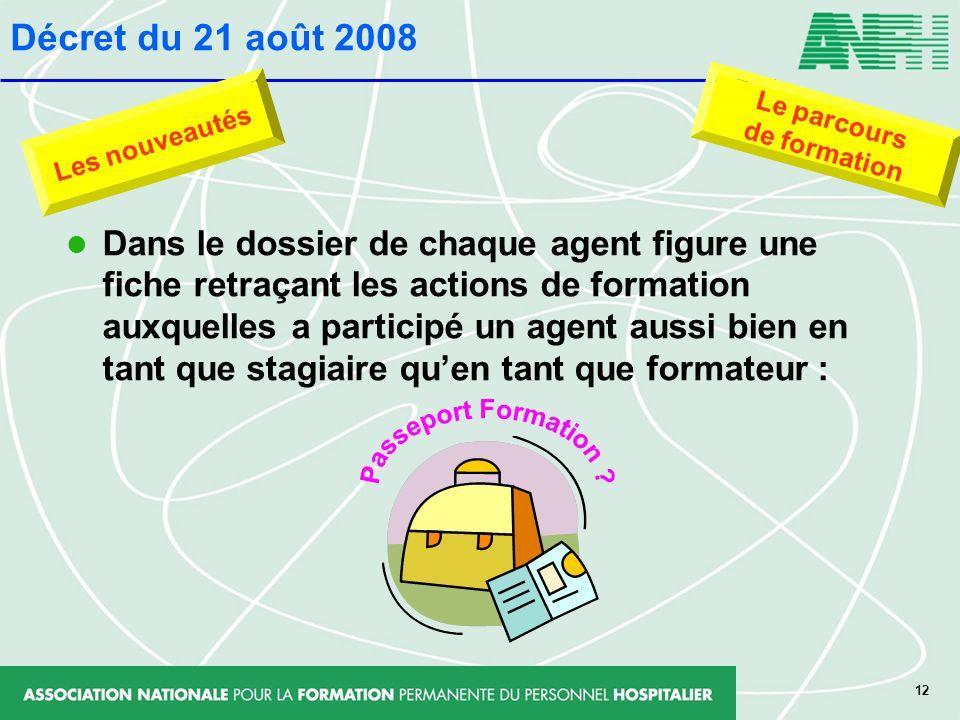 Décret du 21 août 2008 Passeport Formation