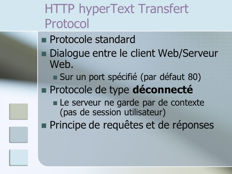 HTTP hyperText Transfert Protocol