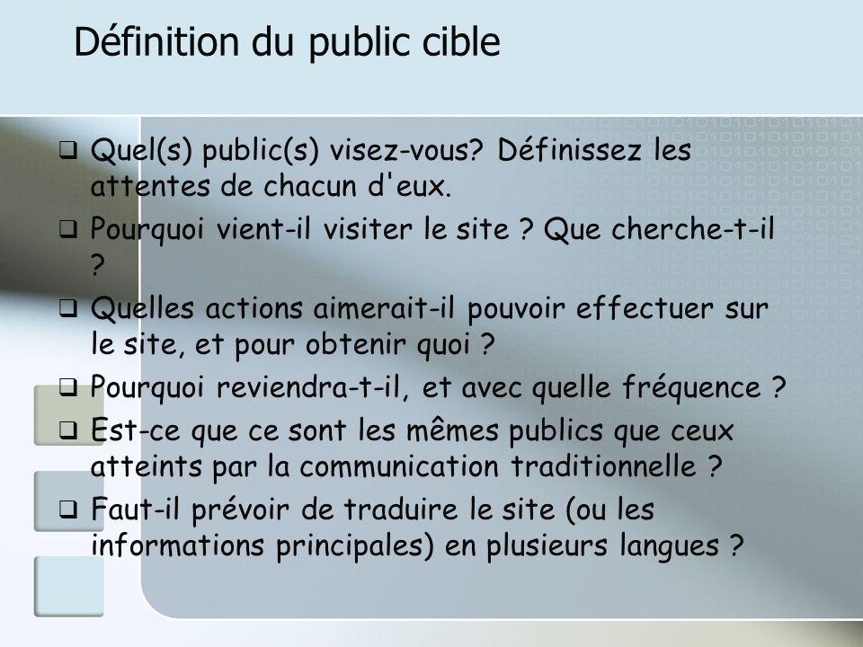 Définition du public cible