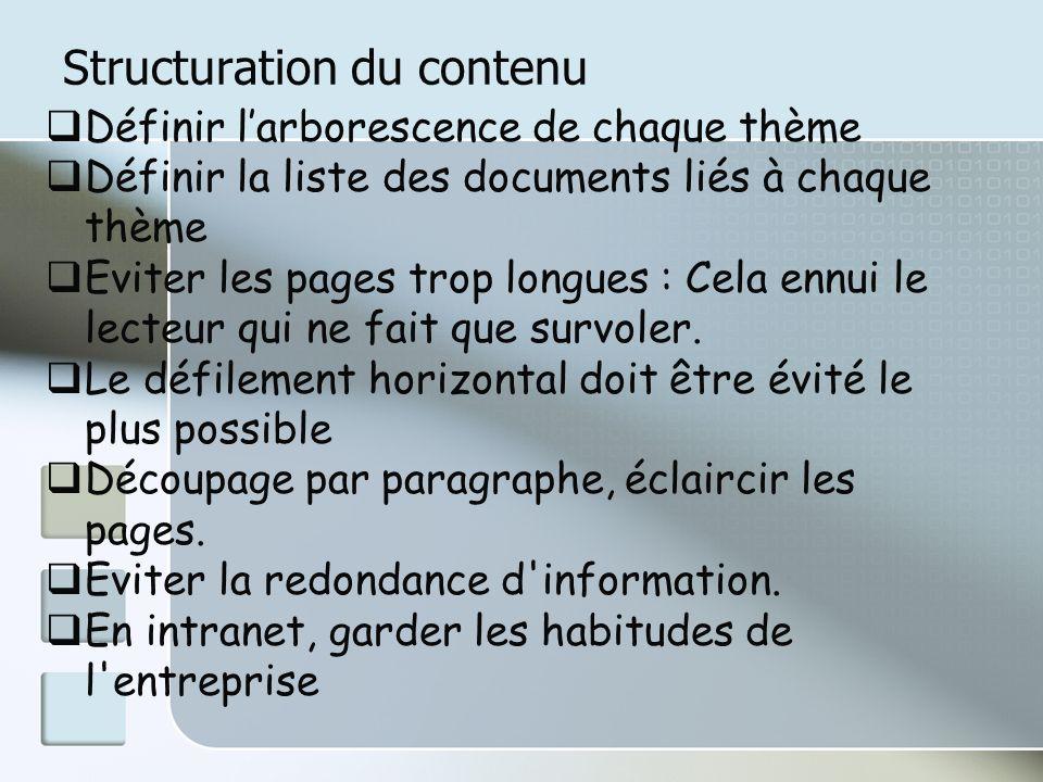 Structuration du contenu