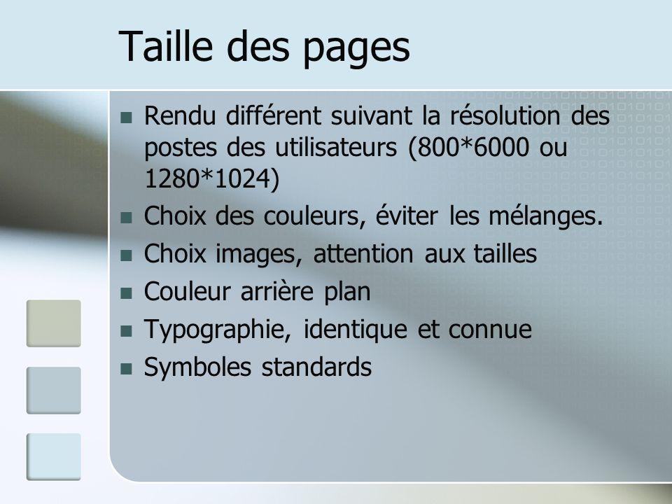 Taille des pages Rendu différent suivant la résolution des postes des utilisateurs (800*6000 ou 1280*1024)