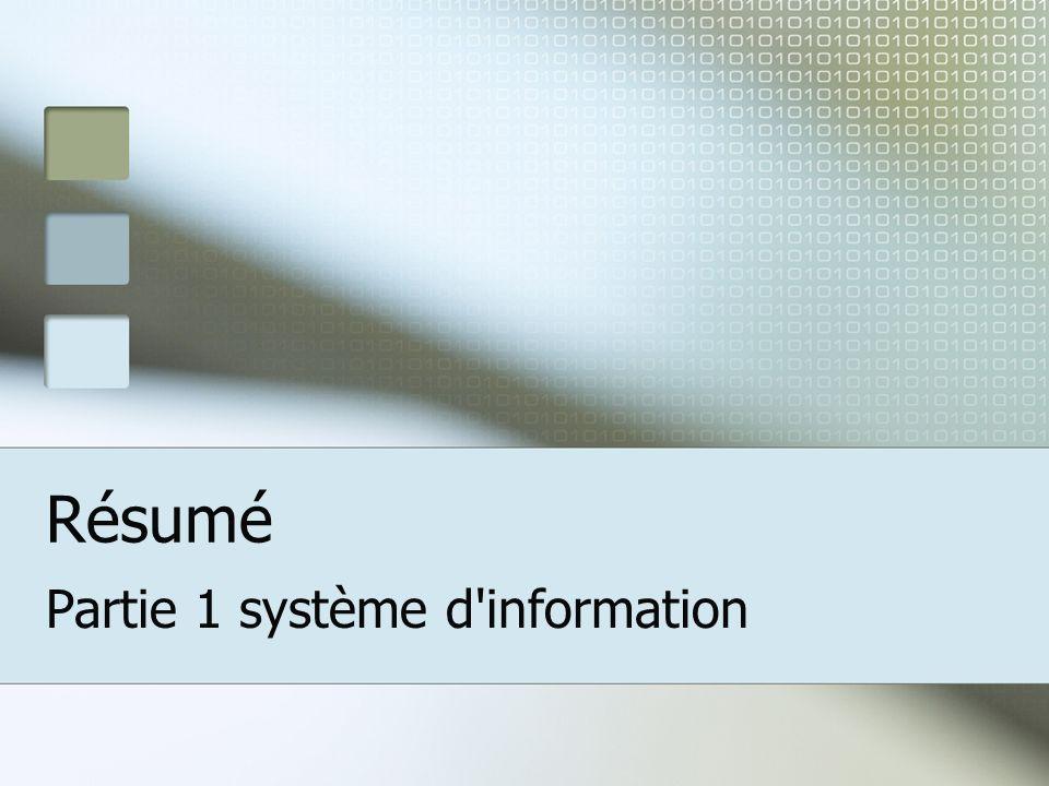 Partie 1 système d information
