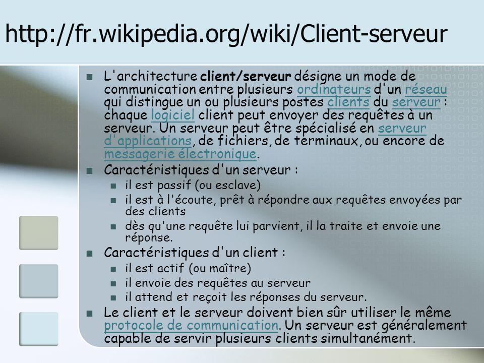 http://fr.wikipedia.org/wiki/Client-serveur