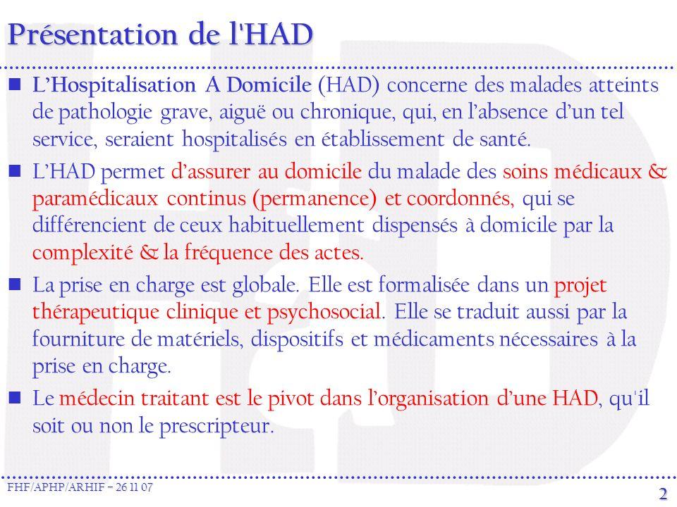 Présentation de l HAD