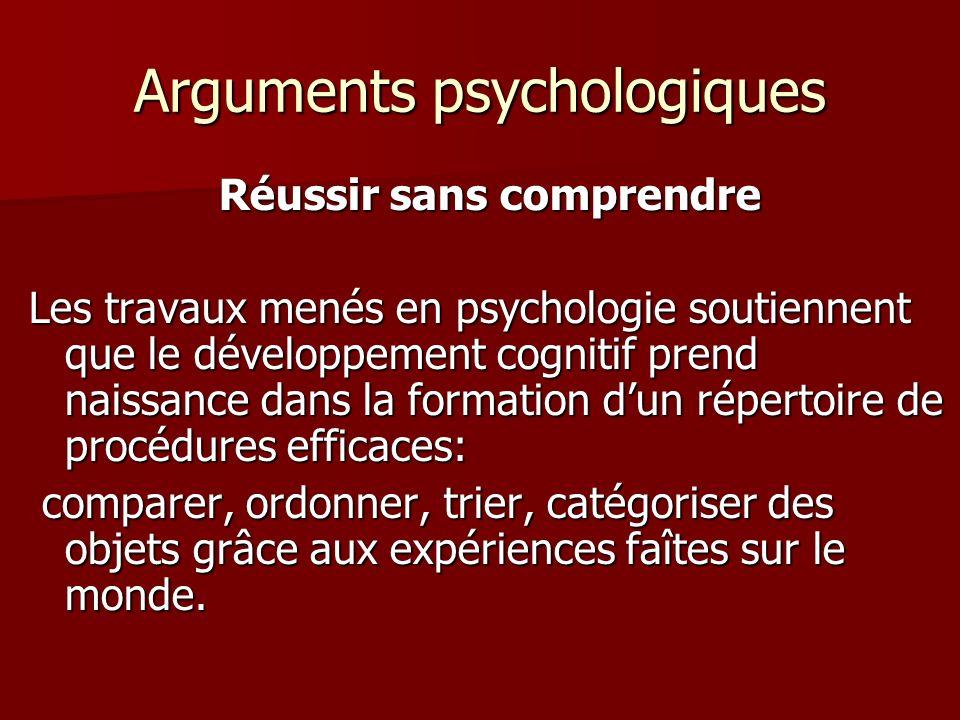 Arguments psychologiques
