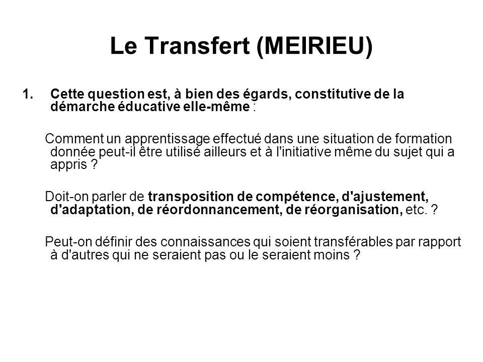 Le Transfert (MEIRIEU)