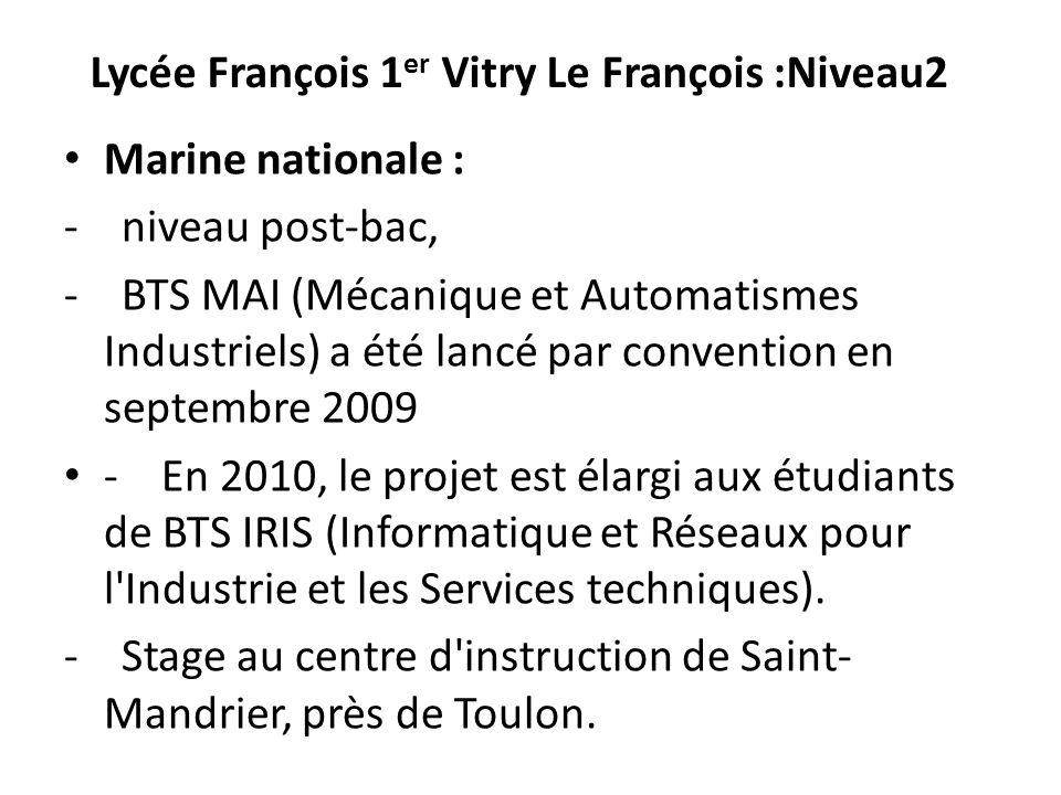 Lycée François 1er Vitry Le François :Niveau2