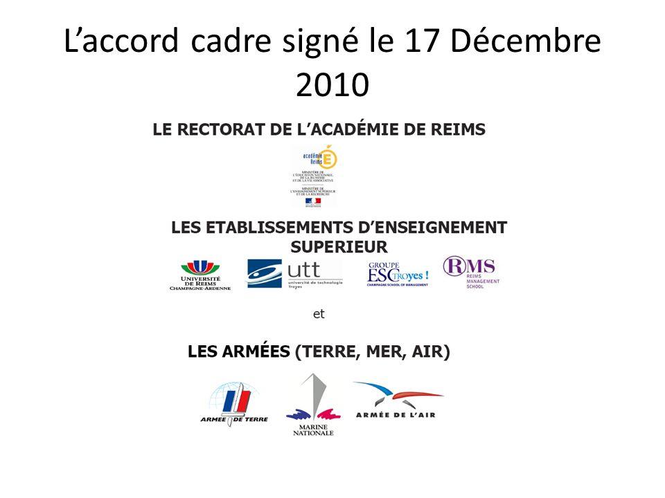 L'accord cadre signé le 17 Décembre 2010