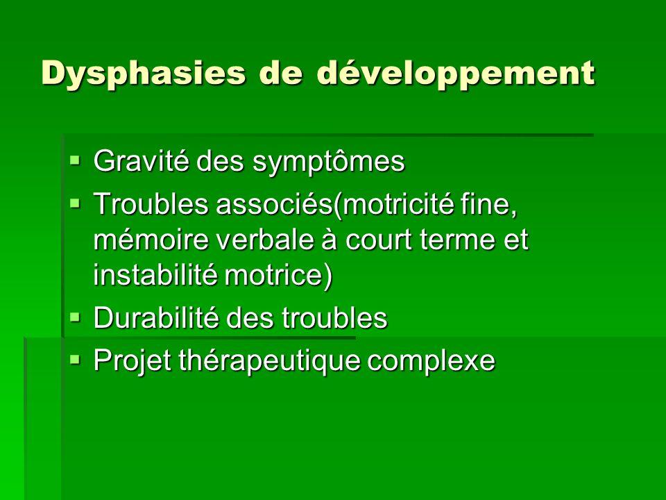 Dysphasies de développement