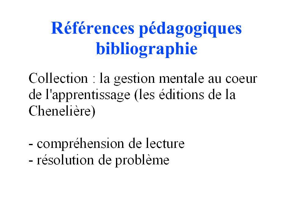 Références pédagogiques bibliographie
