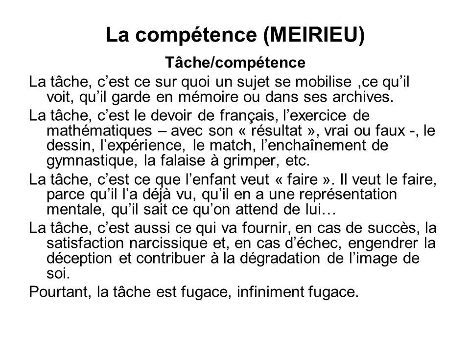 La compétence (MEIRIEU)