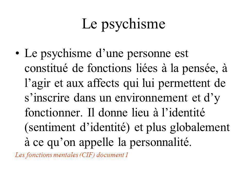 Le psychisme
