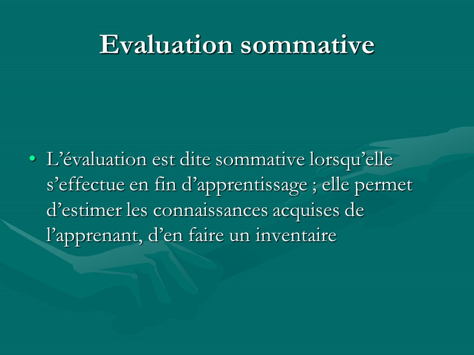 Evaluation sommative