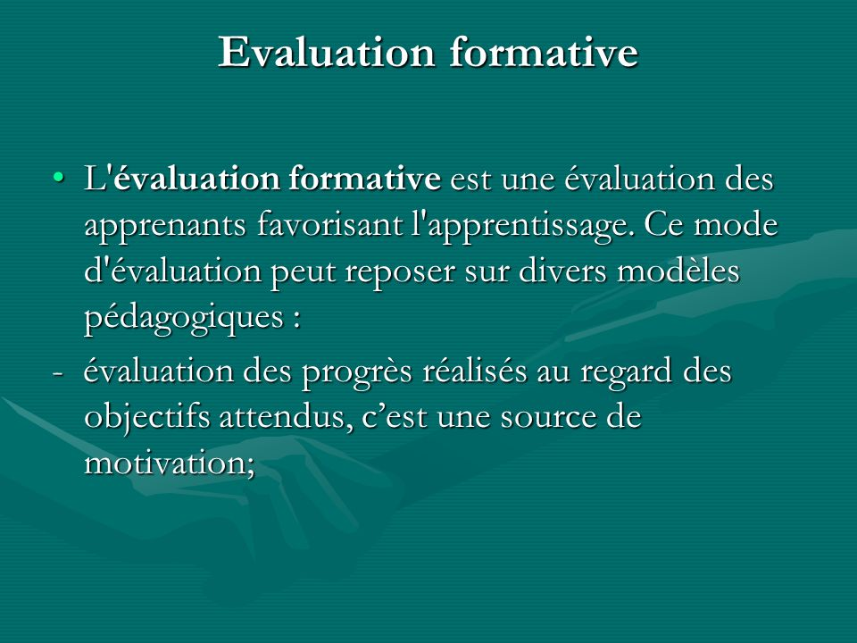Evaluation formative