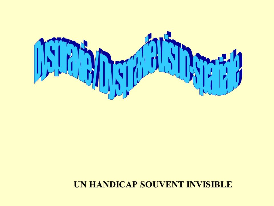 UN HANDICAP SOUVENT INVISIBLE