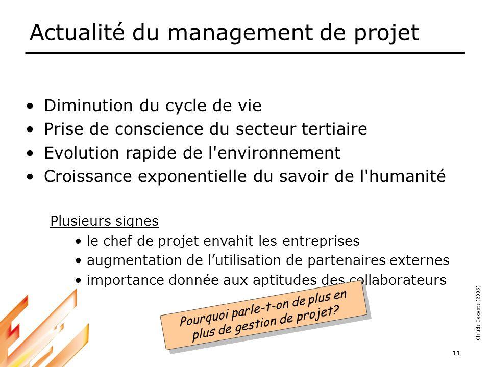 Actualité du management de projet