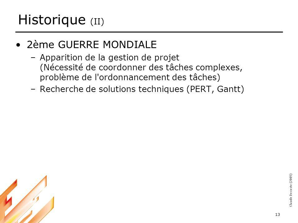 Historique (II) 2ème GUERRE MONDIALE