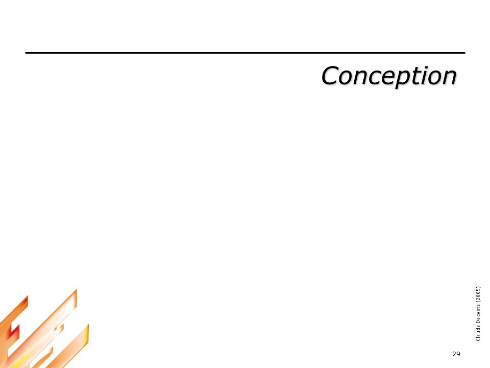Conception ---------------------------------------------------------------------------