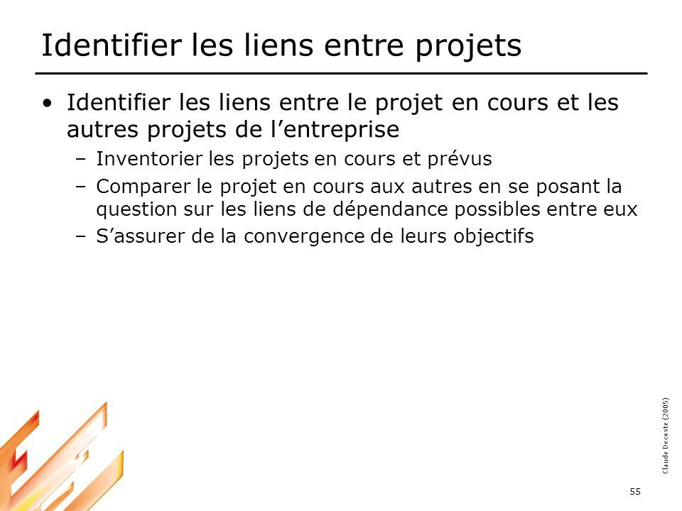 Identifier les liens entre projets