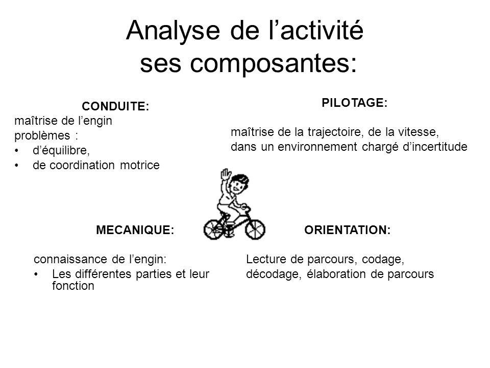 Analyse de l'activité ses composantes: