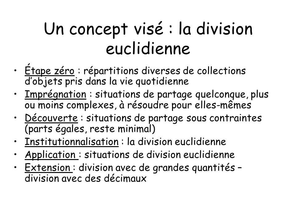 Un concept visé : la division euclidienne