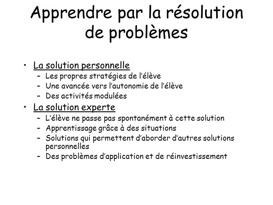 Apprendre par la résolution de problèmes