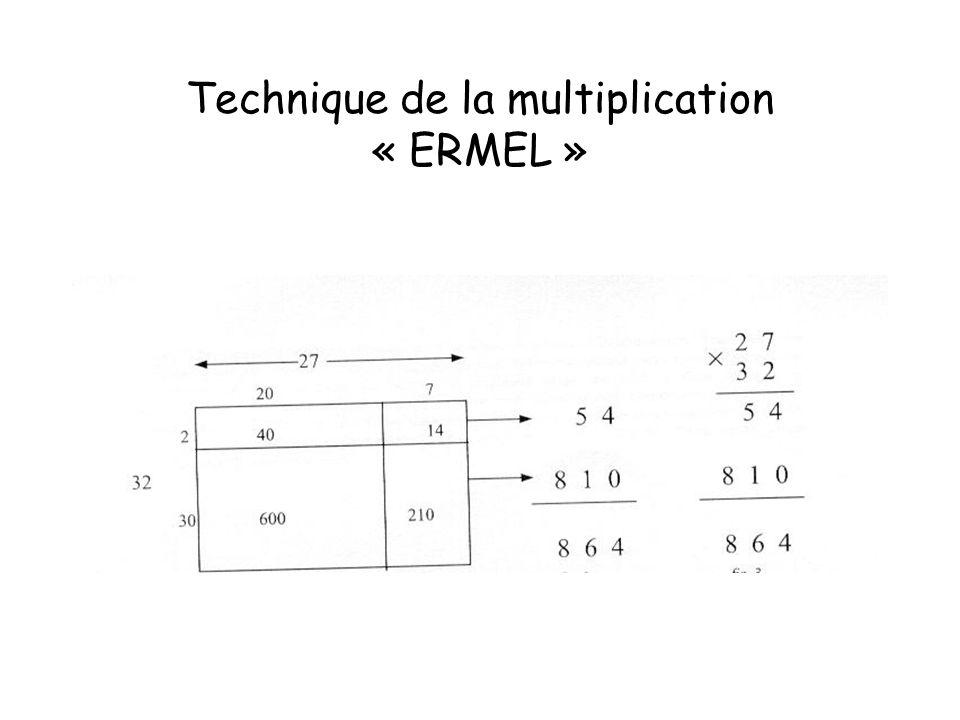 Technique de la multiplication « ERMEL »