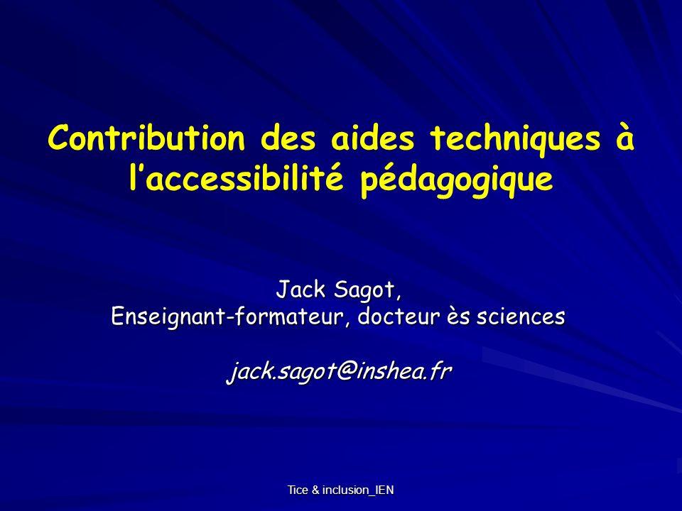 Contribution des aides techniques à l'accessibilité pédagogique