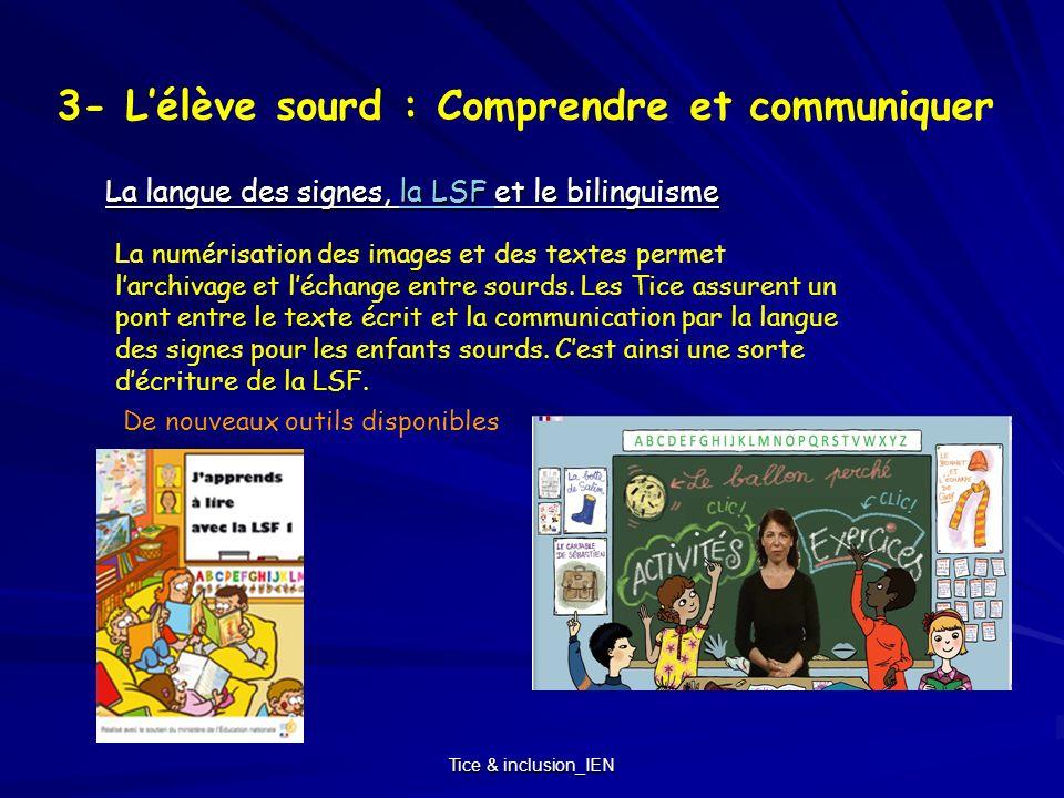 3- L'élève sourd : Comprendre et communiquer