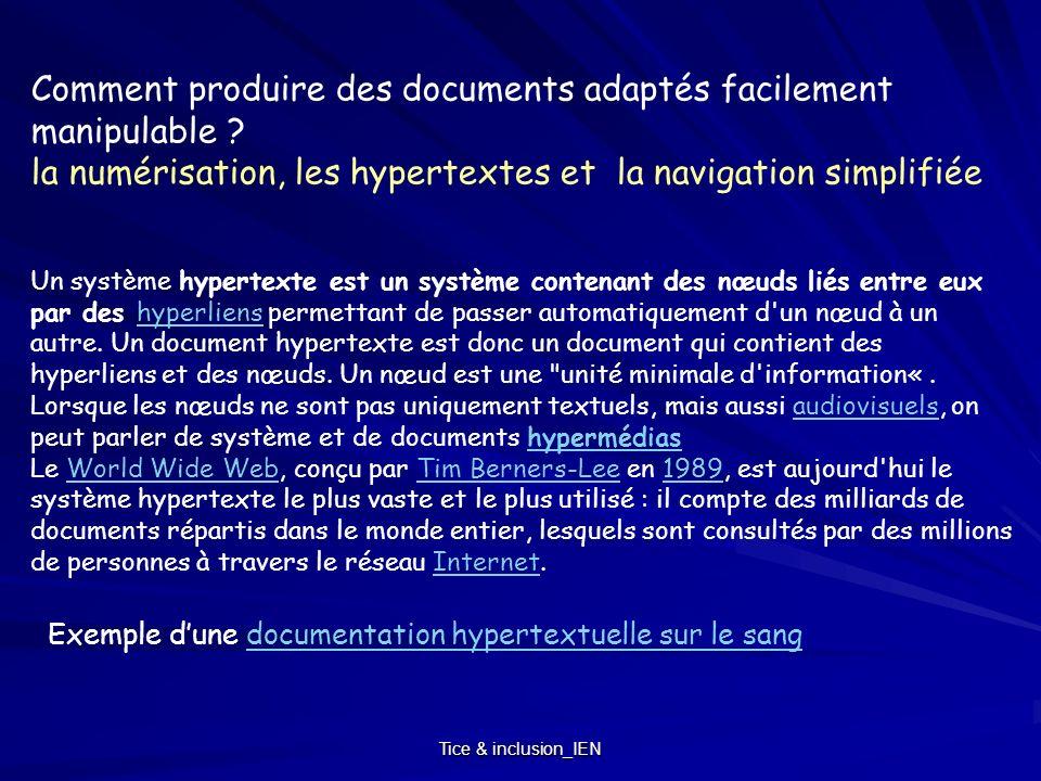 Comment produire des documents adaptés facilement manipulable