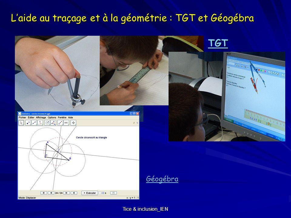 L'aide au traçage et à la géométrie : TGT et Géogébra