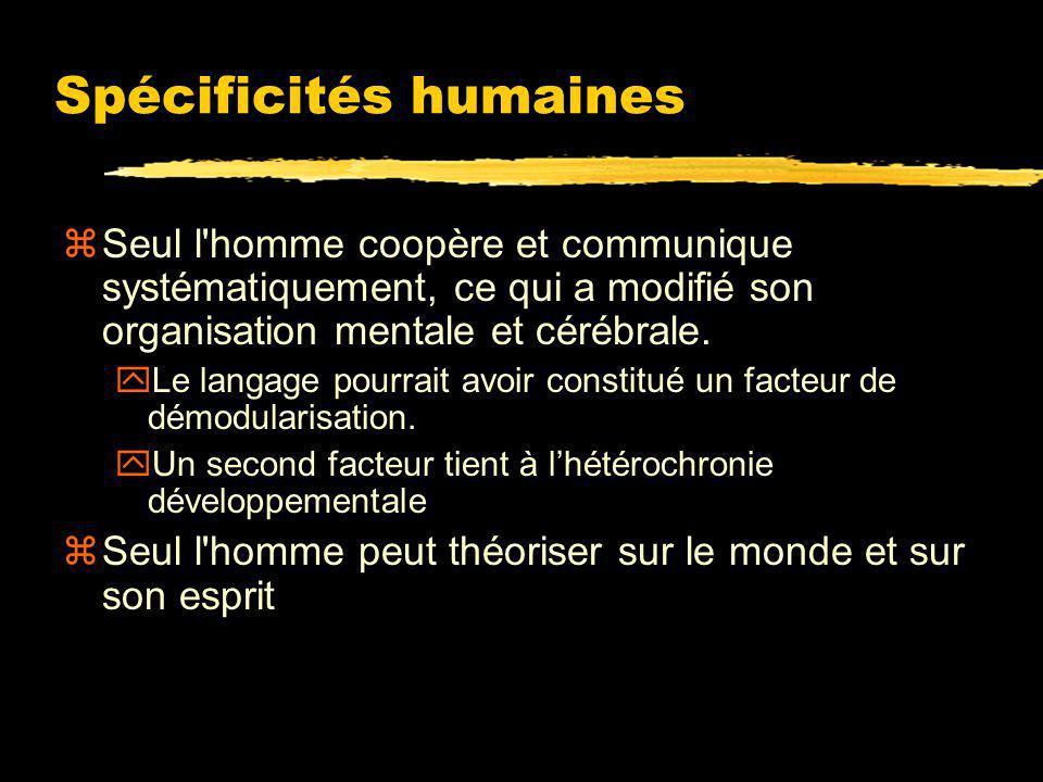 Spécificités humaines
