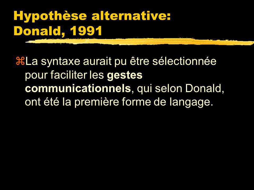 Hypothèse alternative: Donald, 1991
