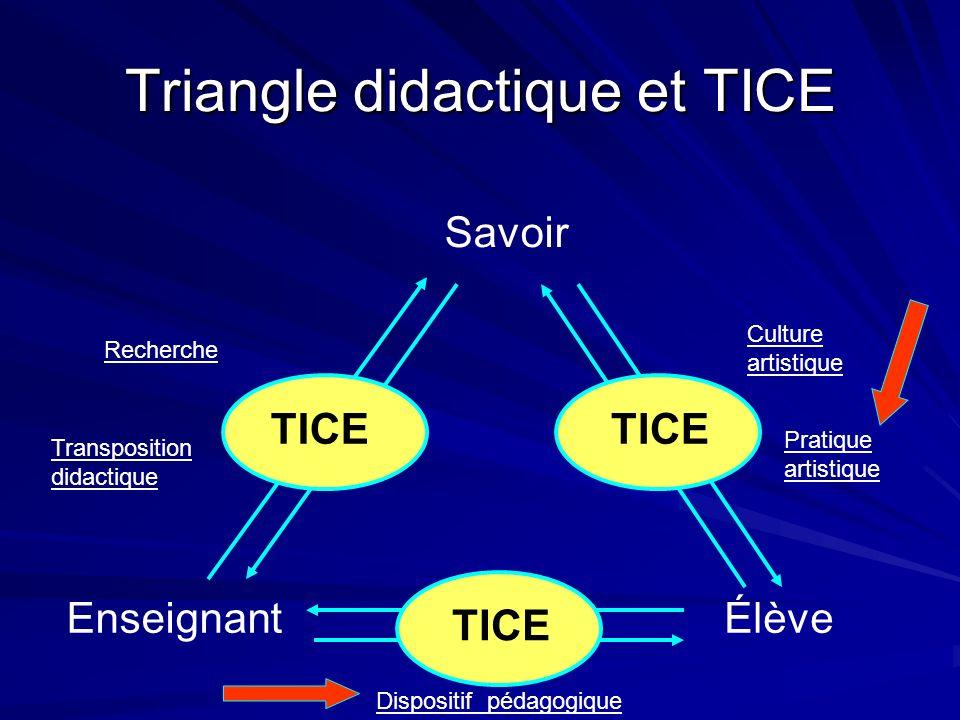 Triangle didactique et TICE