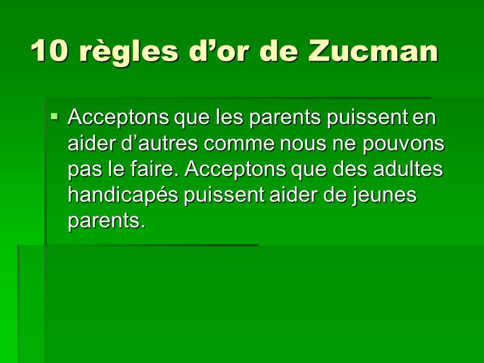 10 règles d'or de Zucman