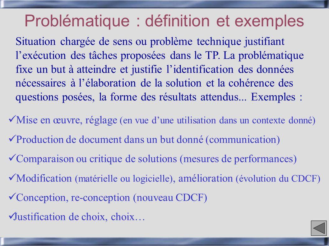 Problématique : définition et exemples