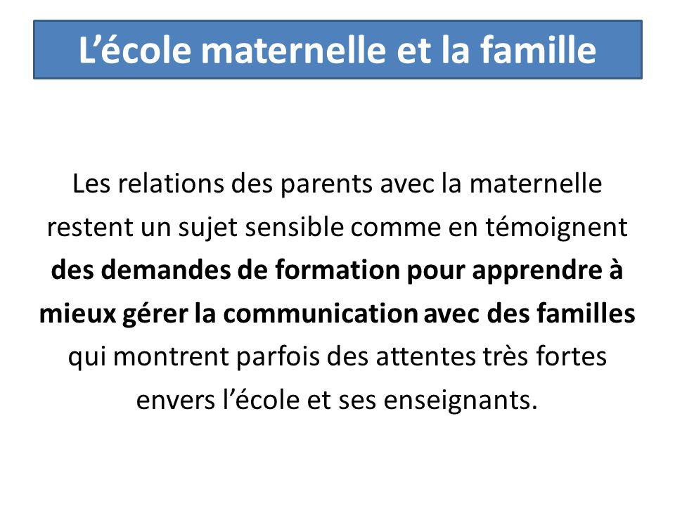 L'école maternelle et la famille