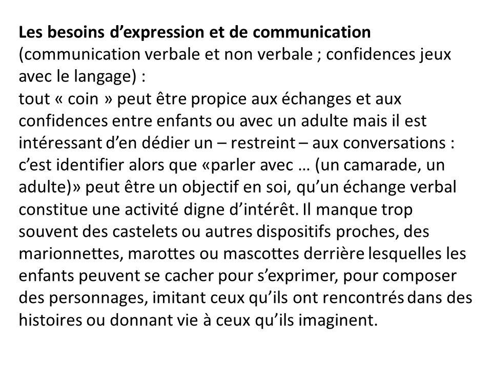 Les besoins d'expression et de communication