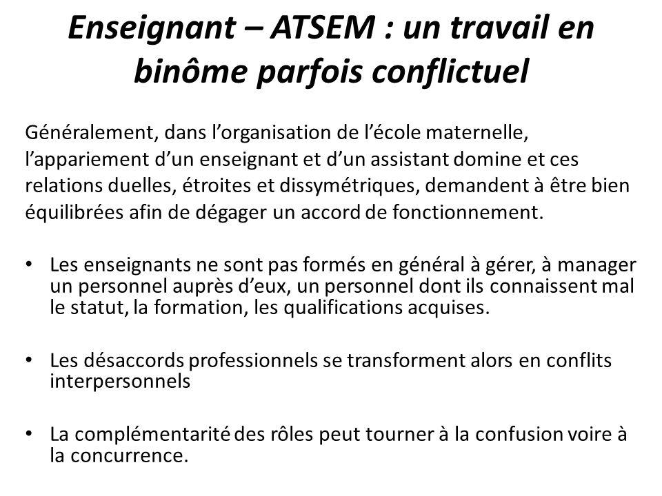 Enseignant – ATSEM : un travail en binôme parfois conflictuel