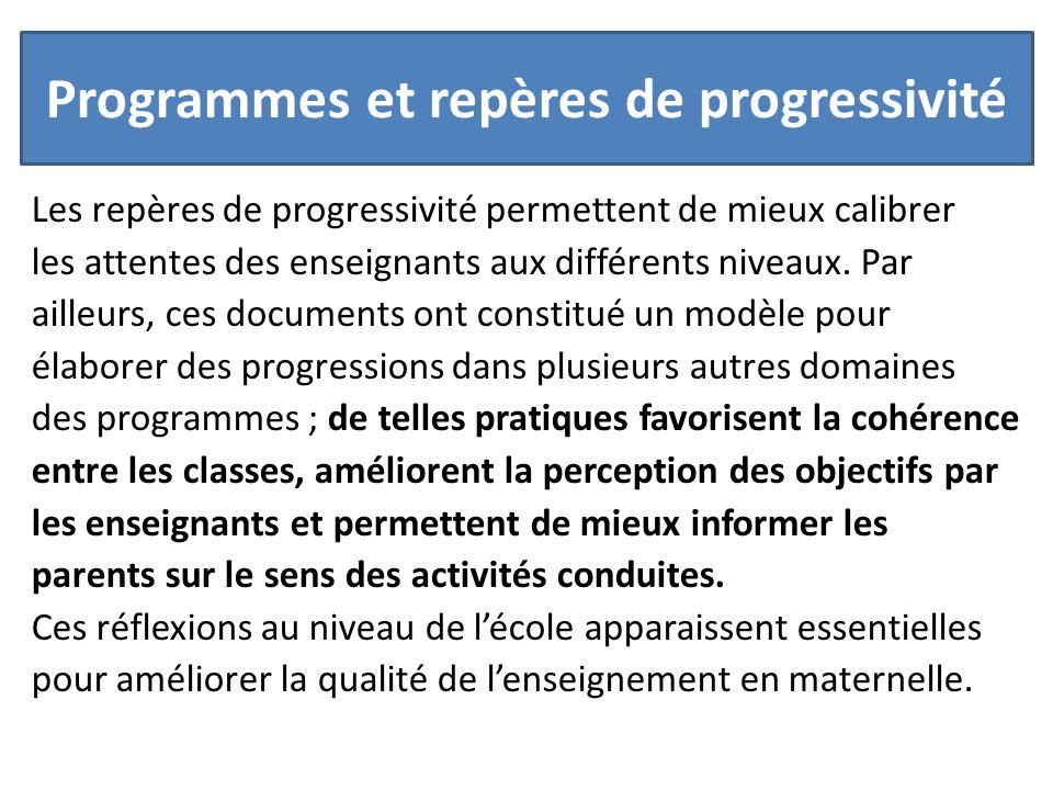 Programmes et repères de progressivité