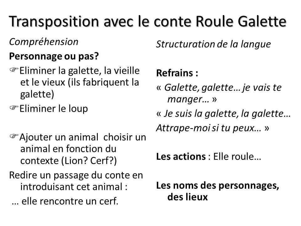 Transposition avec le conte Roule Galette